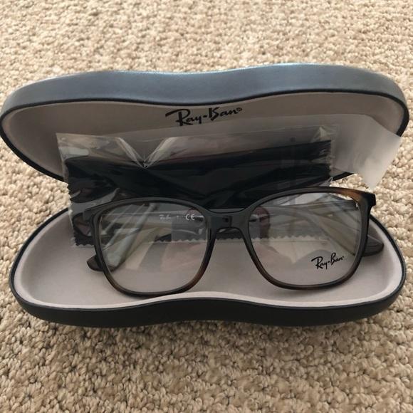 d219cec579 Ray Ban Optical RX7066 Eyeglasses in Shiny Havana